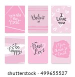 vector illustration. set of... | Shutterstock .eps vector #499655527