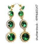 earrings with bright crystals