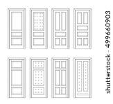 collection interior doors ... | Shutterstock .eps vector #499660903