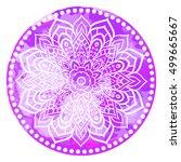 mandala. vintage watercolor... | Shutterstock .eps vector #499665667