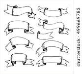 vintage ribbon banners  hand... | Shutterstock .eps vector #499669783