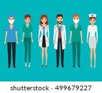 set of avatar doctor character... | Shutterstock .eps vector #499679227