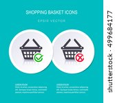 vector shopping basket icons... | Shutterstock .eps vector #499684177