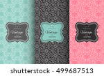 retro chic pattern background.... | Shutterstock .eps vector #499687513
