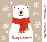 Polar Bear With Merry Christma...