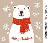 Polar Bear With Merry Christma...