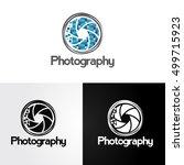 symbol of camera shutter.... | Shutterstock .eps vector #499715923