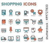 line icons with flat design... | Shutterstock .eps vector #499727833