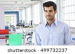 casual man in modern colorful... | Shutterstock . vector #499732237