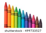 crayon isolated on white... | Shutterstock . vector #499733527