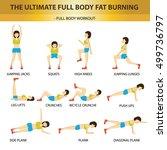 the ultimate full body fat... | Shutterstock .eps vector #499736797