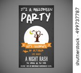 it's a halloween party. let's... | Shutterstock .eps vector #499737787