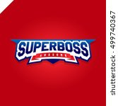 awesome super boss or director... | Shutterstock .eps vector #499740367