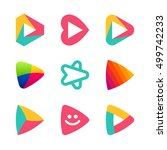 set of colorful play button... | Shutterstock .eps vector #499742233