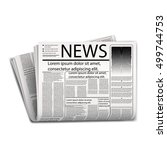 newspaper vector | Shutterstock .eps vector #499744753