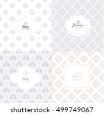 vector mono line graphic design ... | Shutterstock .eps vector #499749067