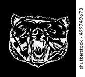 logo  symbol  sign  stencil... | Shutterstock .eps vector #499749673