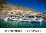 marina of the small town los... | Shutterstock . vector #499754257
