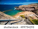 Small photo of small Abama beach on the west coast of Tenerife, Canary islands, Spain