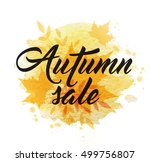 abstract autumn background with ... | Shutterstock .eps vector #499756807