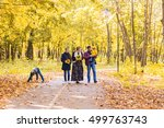 happy young family spending... | Shutterstock . vector #499763743