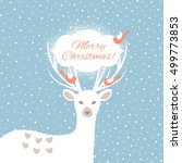christmas background with... | Shutterstock .eps vector #499773853