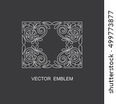 linear vector design element  ... | Shutterstock .eps vector #499773877