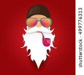 vector rock n roll santa claus... | Shutterstock .eps vector #499776313
