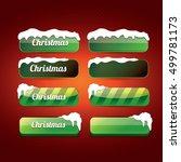 green christmas web buttons set.... | Shutterstock .eps vector #499781173