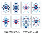 set of geometric abstract... | Shutterstock .eps vector #499781263