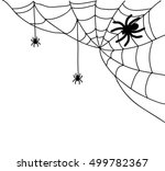 spiderweb illustration vector  | Shutterstock .eps vector #499782367