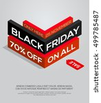 black friday sale. isometric... | Shutterstock .eps vector #499785487