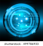 future technology  blue arrow... | Shutterstock .eps vector #499786933