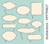 chat bubbles vector illustration | Shutterstock .eps vector #499794817