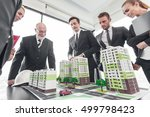 business meeting of architects... | Shutterstock . vector #499798423