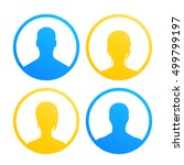 4 avatars icons for web in...