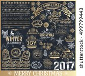 big set of christmas... | Shutterstock .eps vector #499799443