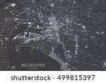 melbourne map  satellite view ... | Shutterstock . vector #499815397