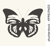 butterfly vector hand drawn.... | Shutterstock .eps vector #499819603