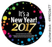 happy new year 2017 layout... | Shutterstock .eps vector #499823677