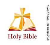 vector sign holy bible with... | Shutterstock .eps vector #499824943