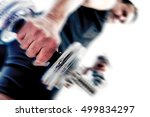 healthy life and gym exercise... | Shutterstock . vector #499834297