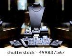fine necklace diamond jewelry... | Shutterstock . vector #499837567