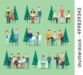 merry christmas and happy new... | Shutterstock .eps vector #499839343