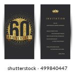60th anniversary decorated...   Shutterstock .eps vector #499840447