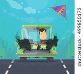 trendy flat design vehicle...   Shutterstock .eps vector #499850173