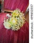beautiful wedding flowers... | Shutterstock . vector #499853557