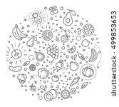 detox diet  vegetarian food...   Shutterstock .eps vector #499853653