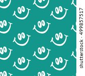 smile vector pattern on green... | Shutterstock .eps vector #499857517