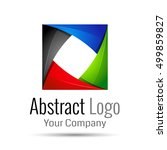 abstract element shape vector... | Shutterstock .eps vector #499859827
